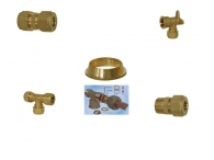 Brass Accessories GAS for Mechanical Clamping Copper Pipe with O-Ring
