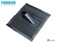 Fenger ART-60B Aluminium Roof Tile, Black Mast Bracket Terracotta aluminium with plastic black investment