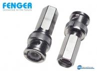 Fenger B59 TW Connector Συνδετήρας BNC-Male Twist-On, Nickel Plated, κατάλληλος για ομοαξονικά καλώδια RG-59 (Ø 6.10mm)10 τεμάχια