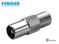Fenger FI-03 Coaxial Adaptor Ομοαξονικός προσαρμογέας F-θηλυκό σε IEC-αρσενικό 10 τεμάχια