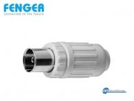 Fenger KK-75 Connector Συνδετήρας IEC-Female, κατάλληλος για ομοαξονικά καλώδια TV 10 τεμάχια