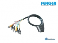 Fenger VK6/20 Scart Cable Cable Ø10mm Scart to 6 RCA, length 2.0m