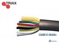 TRIAX Multi 9 Color, SMATV, 1.02mm Cu/Cu-Sn, λευκό PVC 25.0mm, 100m