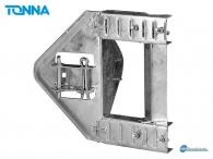 Tonna Ø50/110 Chimney Moun, Chimney bracket 110mm with 2 fasteners - Mast Ø 50mm