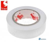 WHITE PVC LAMINATED INSULATION TAPE, 10m