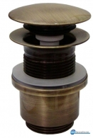 VALVE FOR WASHBASIN CLICK 1''1/4 x h 60 WITH OVERFLOW BRONZE