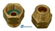 LIQUID GAS COUPLER SWIVEL LEFT SPIRAL 20X24 FEM. RIGHT 1/2