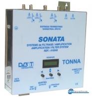 6 input amplifier, BI+FM / BIII / AUX / 3xUHF with 10 programmized filters, 55dB / 123dBμV