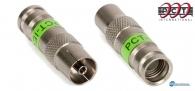 Συνδετήρας IEC-Female Compression 50 τεμάχια, κατάλληλος για ομοαξονικά καλώδια