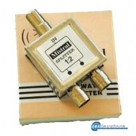 Metallic ground splitter 5-1200 MHz 1 input 2 outputs