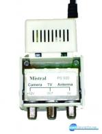Τροφοδοτικό θωρακισμένο παλμοτροφοδοτικό με δυνατότητα τροφοδοσίας δύο καμερών των 200mA η κάθε μία καθώς και ένα ενισχυτή κεραίας