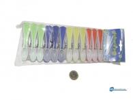 Μανταλάκια σιλικόνης με ελατήριο επαναφοράς σετ 12 τεμάχια