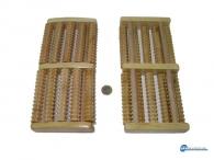 Μασέρ ξύλινο χειρός με 5 οδοντωτούς κυλιόμενους κυλίνδρους