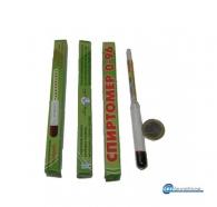 Αλκοολόμετρο γυάλινο 0-95* με χρωματιστή κλίμακα μέτρησης