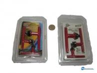 Κλειδιά τσοκ δραπάνου διαφόρων διαστάσεων σετ 3 τεμάχια , πλαστικοποιημένες λαβές